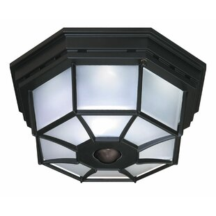 Heath-Zenith 4-Light Octagonal Flush Mount with Motion Sensor