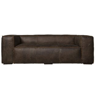 17 Stories Carmo Leather Chesterfield Sofa