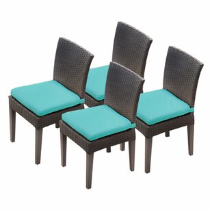 Tegan Patio Dining Chair with Cushions (Set of 4)