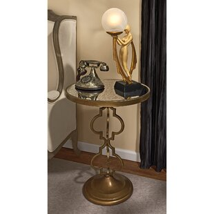 Where buy  Film Noir Art Deco Mirrored End Table by Design Toscano