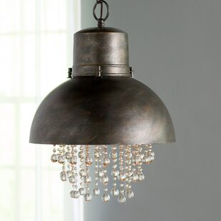 Metal pendant lighting joss main brownell 1 light inverted pendant mozeypictures Images