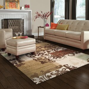 Verndale Traditional Beige/Brown Area Rug