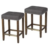 Voss 26 Bar Stool (Set of 2) by Breakwater Bay
