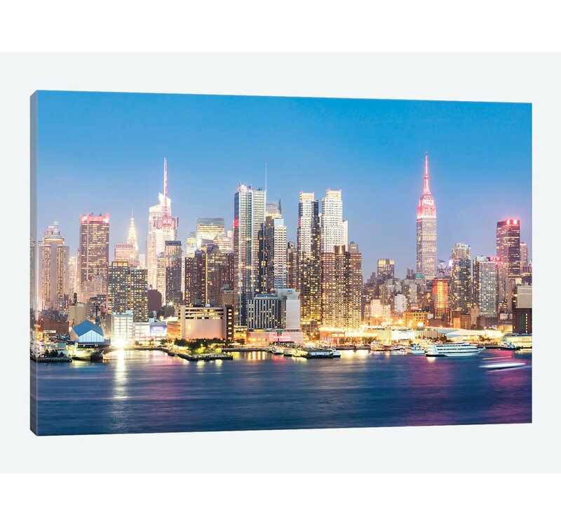 East Urban Home Midtown Manhattan Skyline New York City Bymatteo Colombo Graphic Art Print On Wrapped Canvas