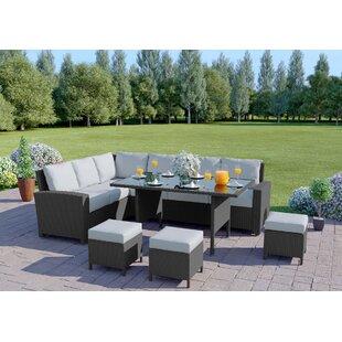 Laplaigne 9 Seater Rattan Corner Sofa Set By Sol 72 Outdoor