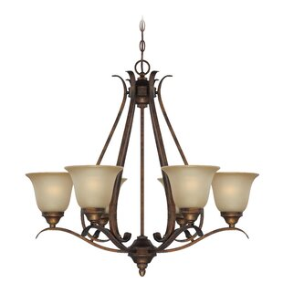 Darby Home Co Pottersmoor 6-Light Shaded Chandelier