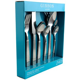 Gibson Prato 24 Piece 18/10 Stainless Steel Flatware Set, Service for 4