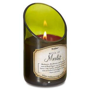 Wine Bottle Merlot Scented Jar Candle