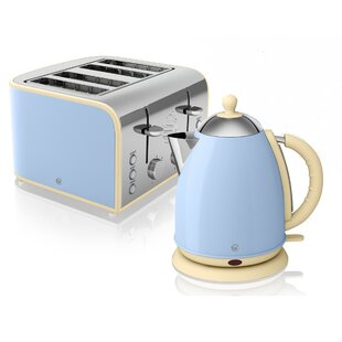Retro 1 7l Jug Kettle And 4 Slice Toaster Set