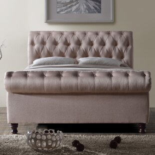 Review Gaskell Upholstered Sleigh Bed