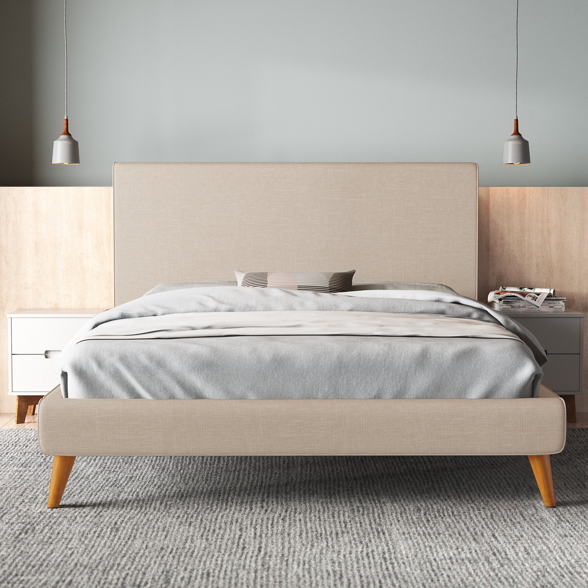 Williams Tufted Upholstered Low Profile Platform Bed Reviews Allmodern