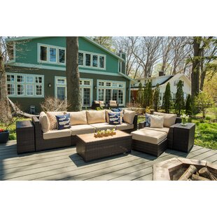 Darden 9 Piece Rattan Sofa Seating Group with Cushions by Rosecliff Heights
