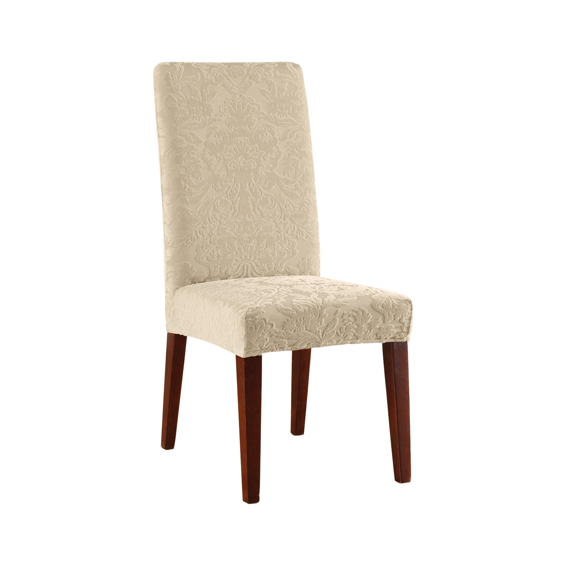 Tremendous Stretch Jacquard Damask T Cushion Dining Chair Slipcover Uwap Interior Chair Design Uwaporg