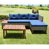 McKim 3 Piece Sectional Seating Group with Cushions by Foundstone