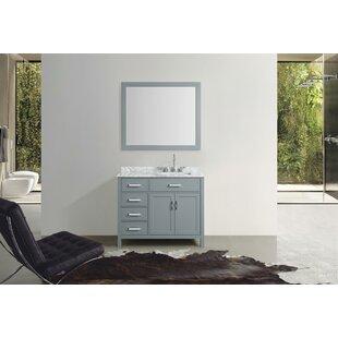 Weatherford 43 Single Bathroom Vanity Set with Mirror by Orren Ellis
