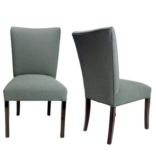 Julia Allure Spring Seating Double Dow Upholstered Side Chair (Set of 2)