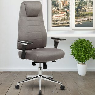 Ivy Bronx Henson Height Adjustable Executive High-Back Home Office Chair with Wheels