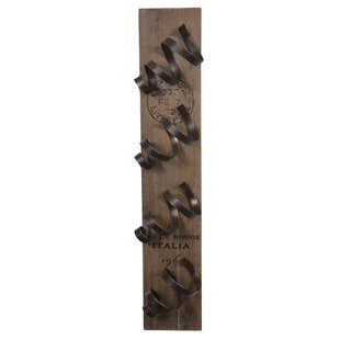 Leela Spiral 4 Bottle Wall Mounted Wine R..