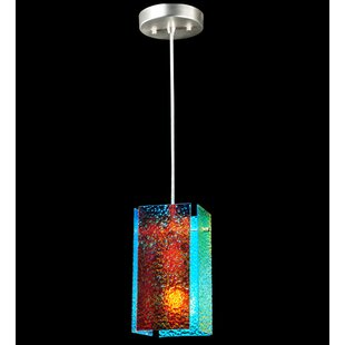 Metro Fusion Fire and Ice Granite Quadrato 1-Light Square/Rectangle Pendant by Meyda Tiffany