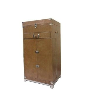 Kamana Leather Bar Cabinet by 17 Stories