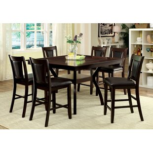 Wilburton 7 Piece Counter Height Pub Table Set DarHome Co
