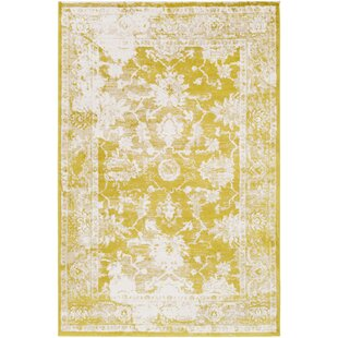 Buy Montrose Yellow/White Area Rug By Laurel Foundry Modern Farmhouse