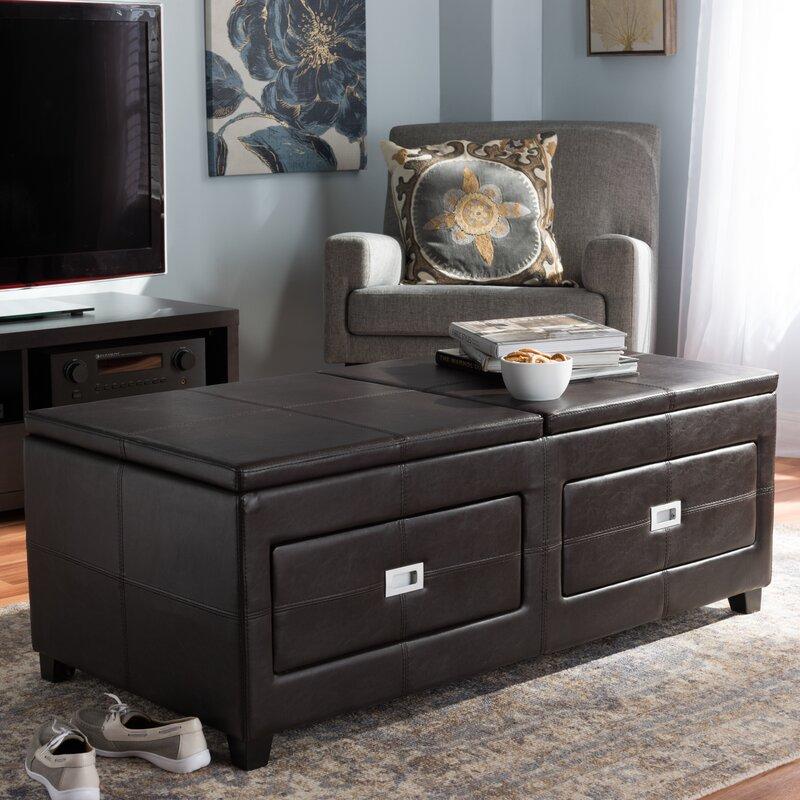 orren ellis daveney coffee table with lift top & reviews | wayfair