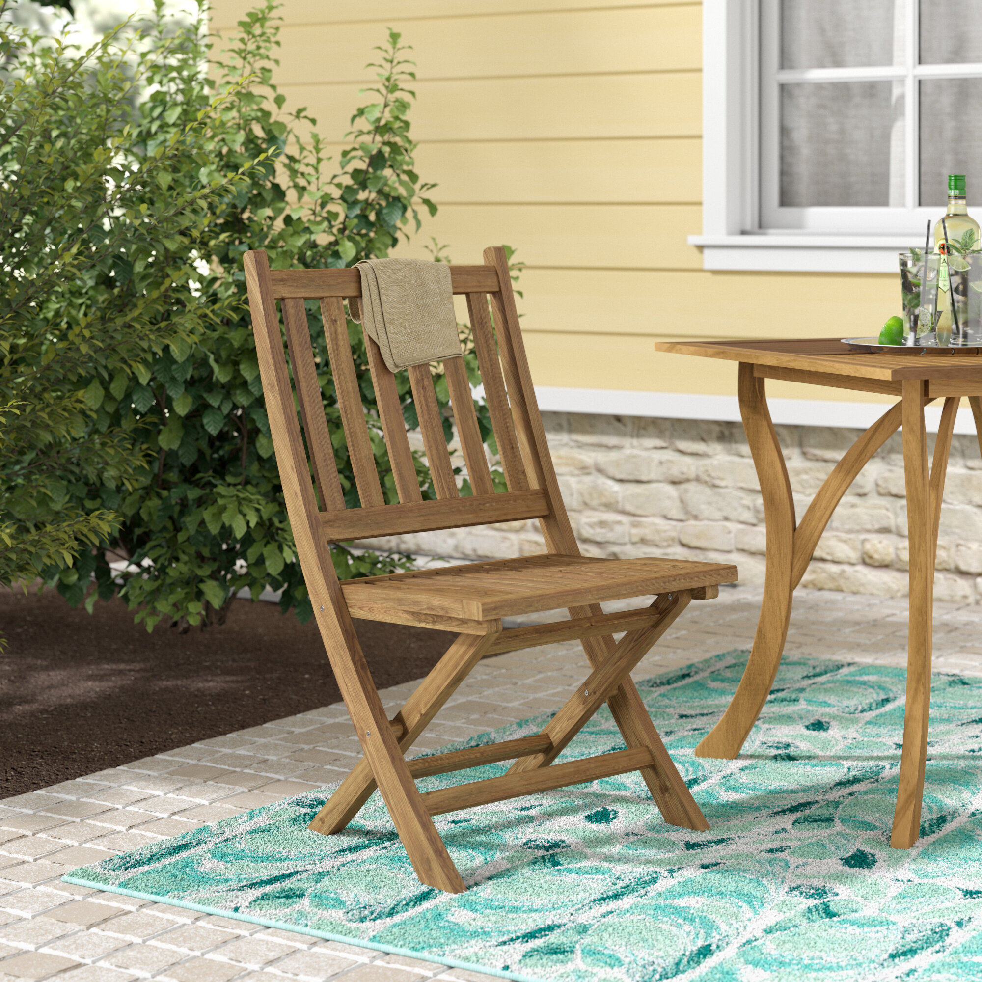 Beachcrest Home Elaina Wood Folding Chair Reviews Wayfair