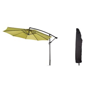 Deluxe Offset Patio 10' Cantilever Umbrella by Trademark Innovations Great Reviews