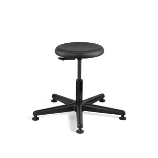 Versa Height Adjustable Backless Stool with Mushroom Glides