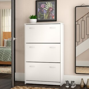 Triple 14-Pair Shoe Storage Cabinet by Rebrilliant
