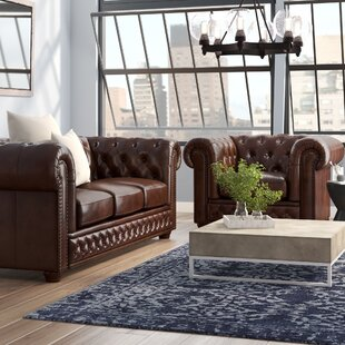 Read Reviews Worcester 2 Piece Leather Living Room Set by Trent Austin Design Reviews (2019) & Buyer's Guide