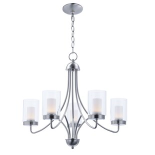 Latitude Run Caverly 5-Light LED Shaded Chandelier