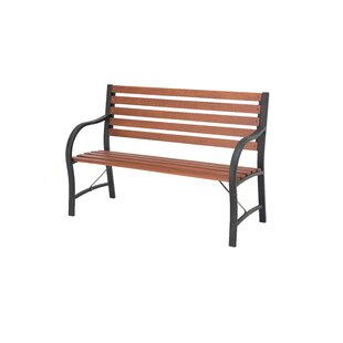 Elizabeth Street Steel and Wood Garden Bench by Red Barrel Studio