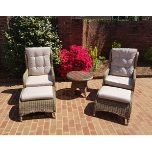 Hallmark 5 Piece Rattan Conversation Set with Cushions