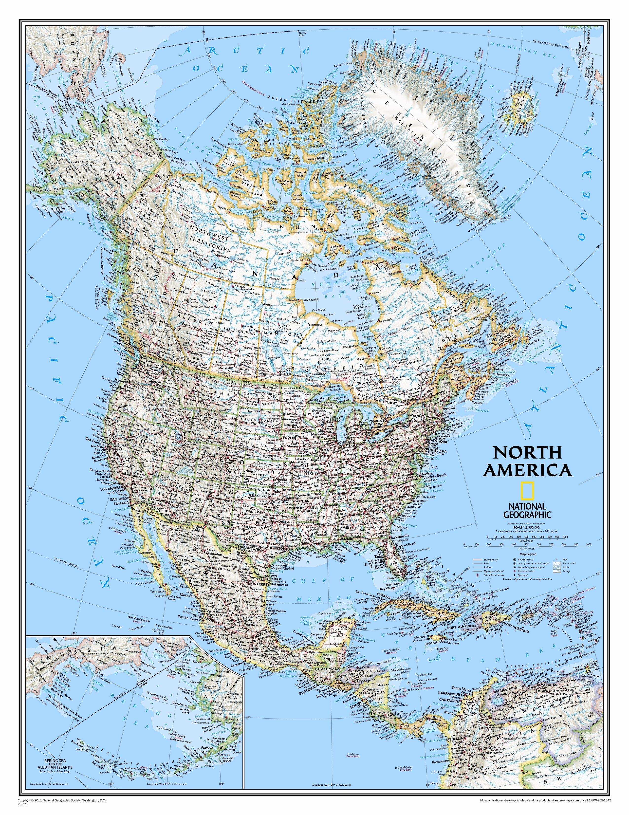 Picture of: National Geographic Maps North America Classic Wall Map Wayfair