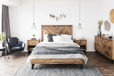 Modern Rustic Bedroom Design Photo by Wayfair