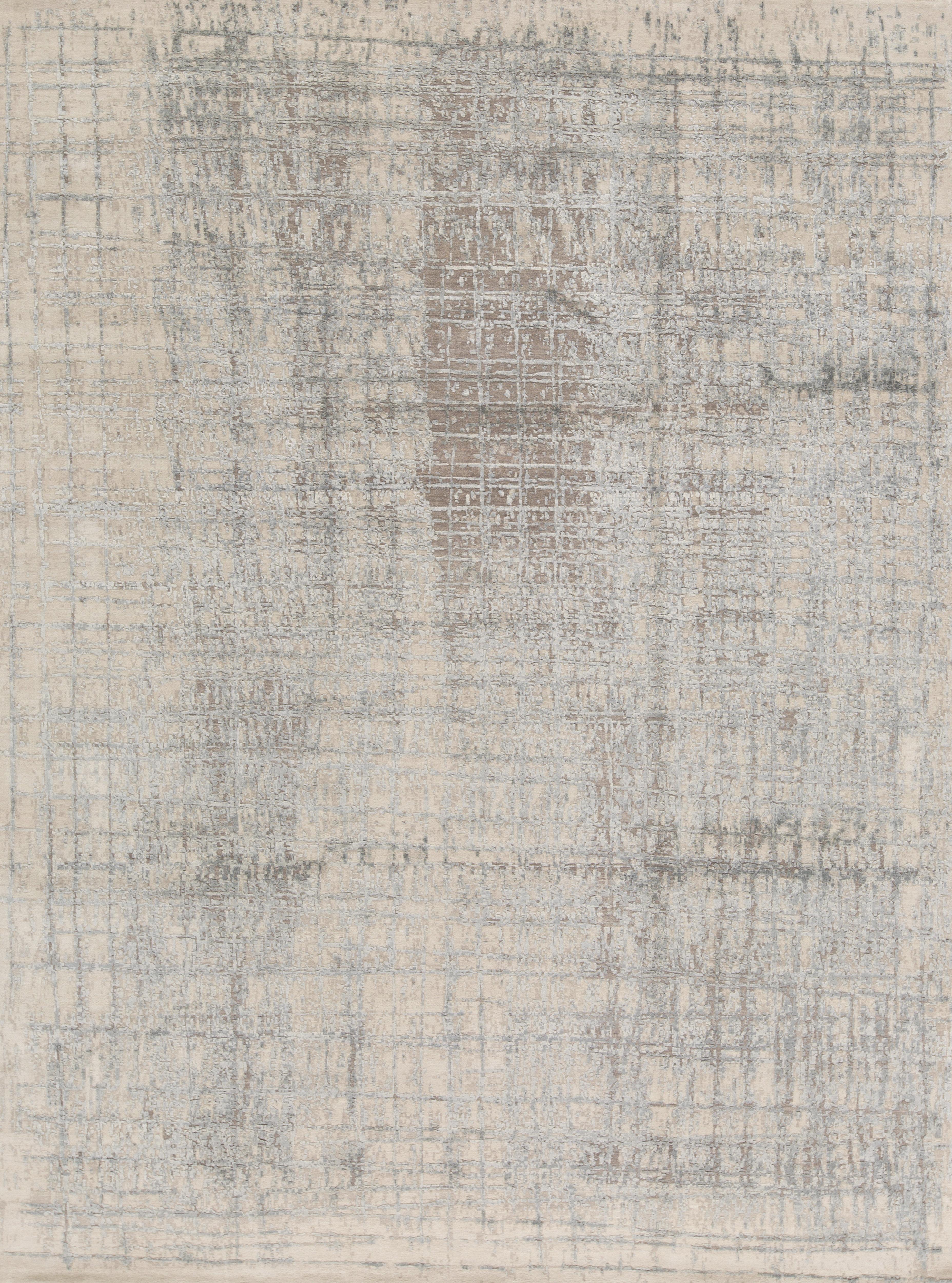 Bokara Rug Co Inc Aurora Abstract Hand Knotted Wool Silver Blue Area Rug Wayfair