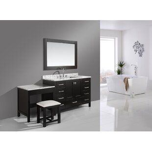 Middletown 78 Single Bathroom Vanity Set with Mirror by Andover Mills