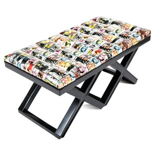 Magazine Upholstered Bench