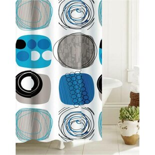 Rushin Bath Abstract Coils Shower Curtain By Wrought Studio