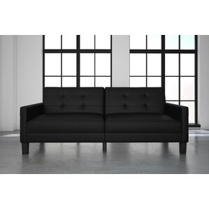 Anabelle Faux Leather Convertible Sofa by Eb..
