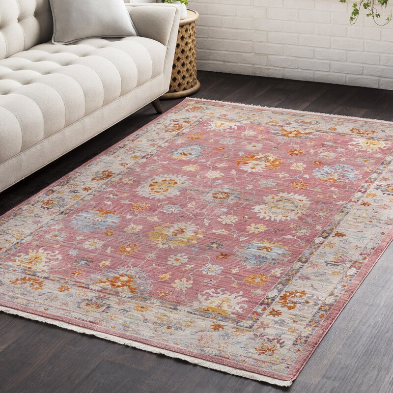 Winston Porter Mali Vintage Persian Traditional Bright Red Area Rug ...