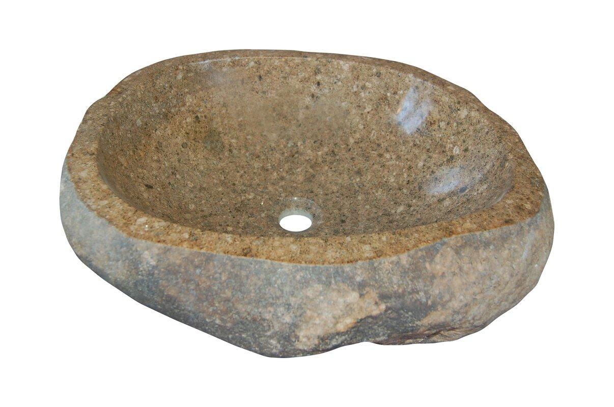 Bathroom rock vessel sinks - Natural River Rock Boulder Specialty Vessel Bathroom Sink