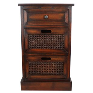 Reviews Swanage 3 Drawer Nightstand by World Menagerie