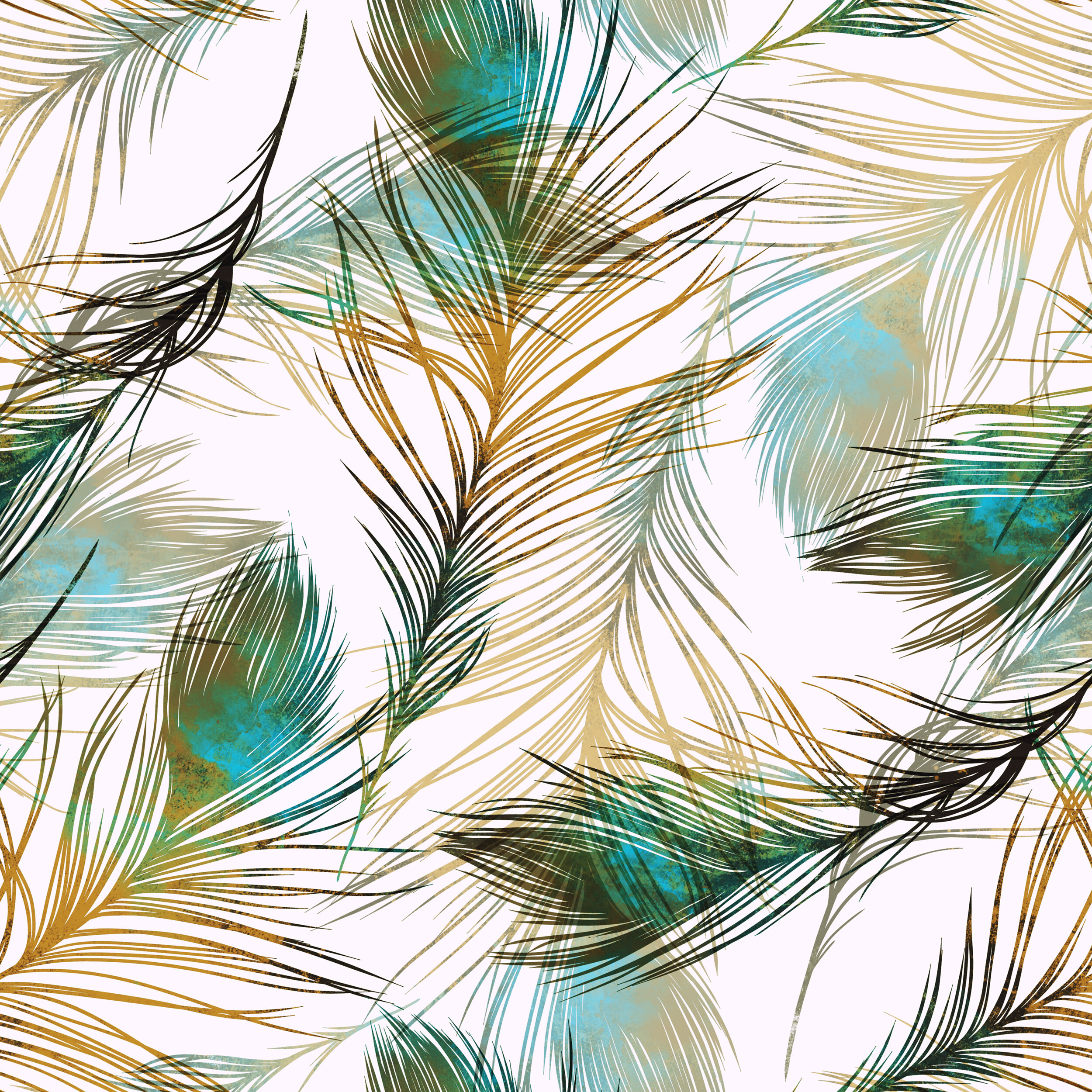 Bayou Breeze Alaysia Peacock Feathers 10 L X 24 W Peel And Stick Wallpaper Roll Wayfair