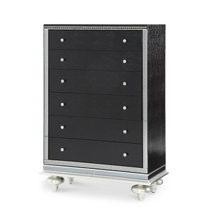 Hollywood Swank Starry Night 5 Drawer Chest by Michael Amini (AICO)