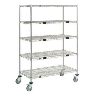Nexel Standard Duty Wire Exchange and Linen Transport Truck 5 Shelf Shelving Unit