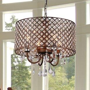 Affordable Gautier 4-Light Drum Chandelier By Willa Arlo Interiors