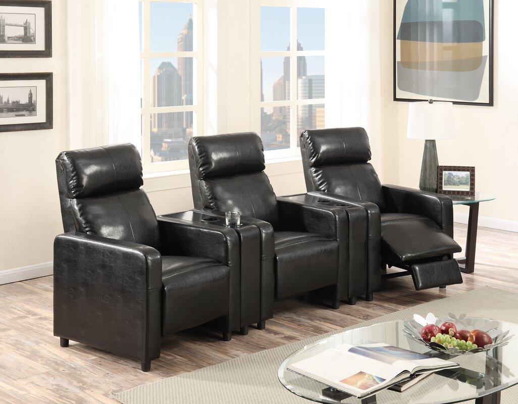 power leather home storage sigma loveseat media pin lane sofa console gel theater recline w
